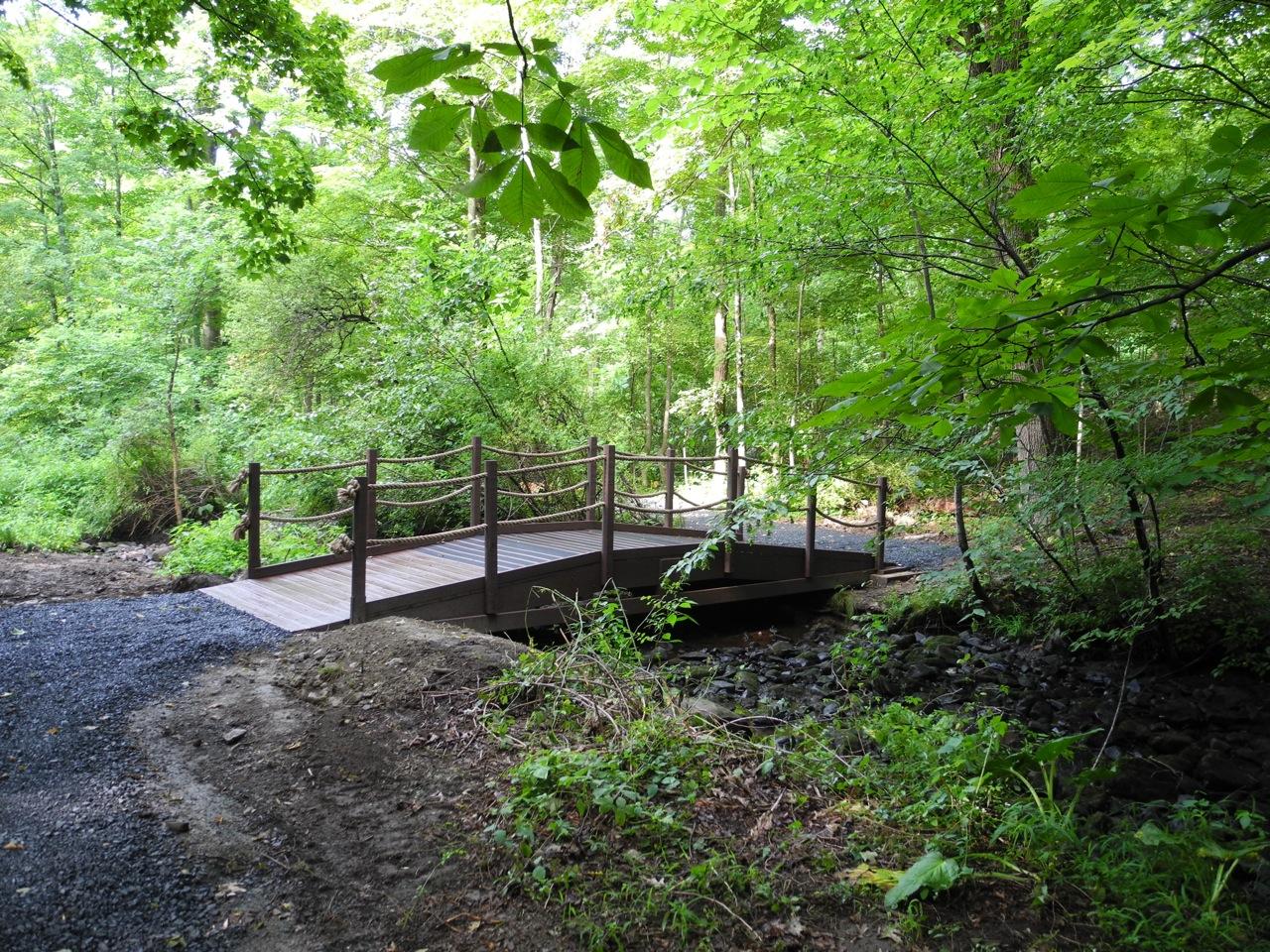 bridge at Brandwein Nature Learning Preserve