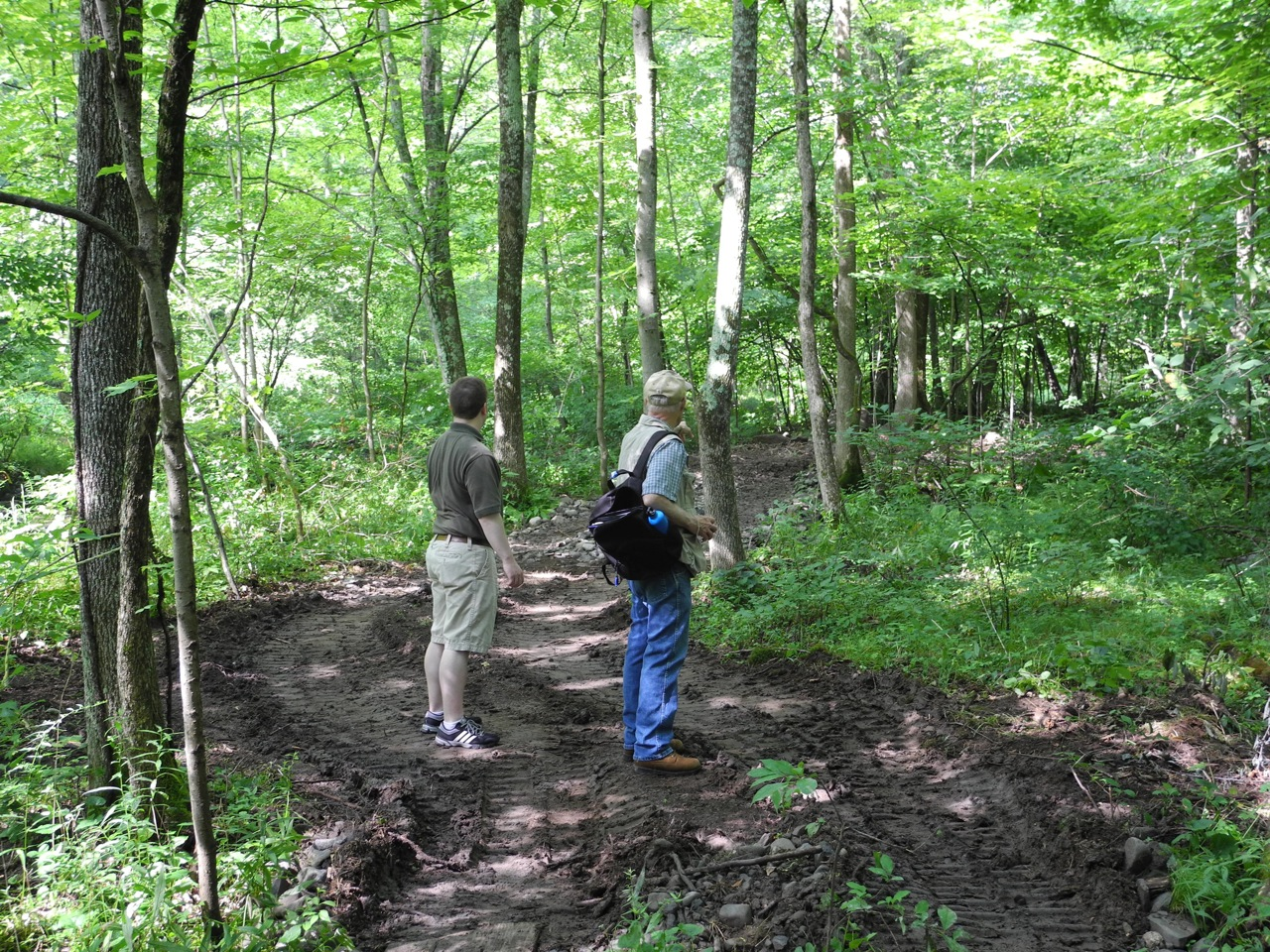 hikers at Brandwein Nature Learning Preserve